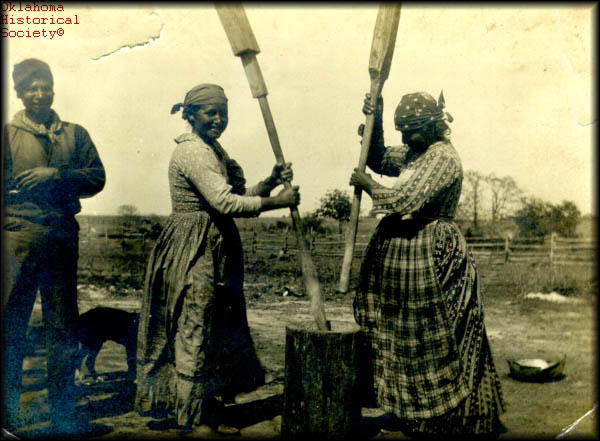 Creek women making sofky.